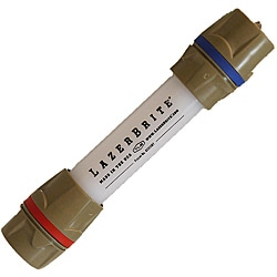 Lazerbrite Single Mode Red and Blue Flashlight