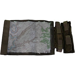 LazerBrite Rollable Coyote-brown Cloth Map Case with Plastic Window