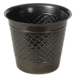 Gun Metal Check Metal 14-inch Planter (Set of 2)