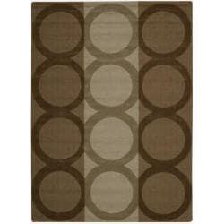 Nourison Hand-tufted Panache Chocolate Wool Rug (5'6 x 7'5)