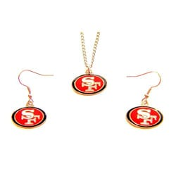 San Francisco 49ers Necklace and Dangle Earring Charm Set 8326813