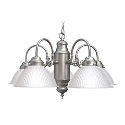 Woodbridge Lighting Basic 5-light Satin Nickel Prism Glass Chandelier 8326899