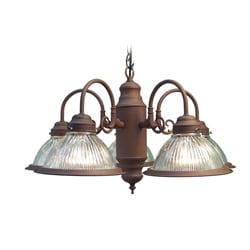 Woodbridge Lighting Basic 5-light Antique Bronze Prism Glass Chandelier 8327161