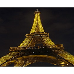 "Stewart Parr ""Paris, France - Eiffel Tower at night"" Unframed Photo Print"