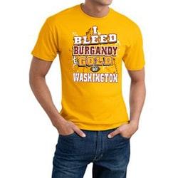 Washington 'I Bleed Burgundy & Gold' Cotton Tee