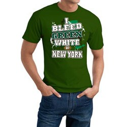 New York Football 'I Bleed Green & White' Green Tee