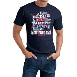 New England Football 'I Bleed Red, White & Blue' Blue Cotton Tee