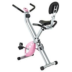 Steel-and-plastic Sunny Health Fitness Folding Recumbent X Bike