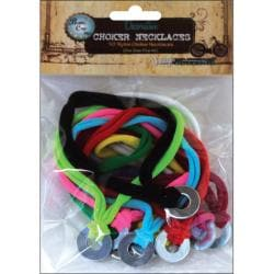 Bottle Cap Inc Vintage Collection Nylon Chokers (Pack of 10)