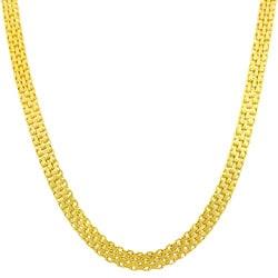 Fremada 14k Yellow Gold 18-inch Bizmark Chain