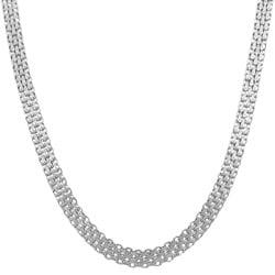 Fremada 14k White Gold 18-inch Bizmark Chain