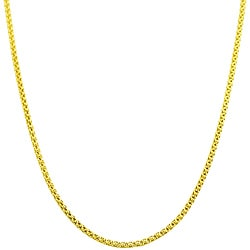 Fremada 14k Yellow Gold 20-inch Popcorn Chain
