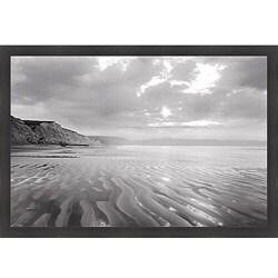 Marty Knapp 'Tidal Patterns, Drakes Beach' Framed Print Art