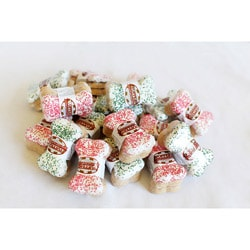 Foppers Coated Bones Seasonal Holiday Colored Dog Treats