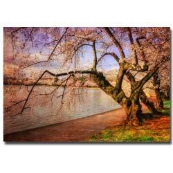 Lois Bryan 'At the Cherry Blossom Festival' Horizontal Canvas Art
