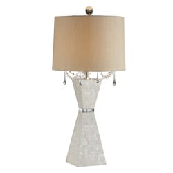 Pyramid Mother-of-pearl Crystal Table Lamp
