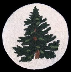 Wool Tree Design Chair Pad