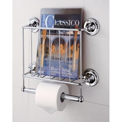 Wall-mount Bath Tissue & Magazine Rack