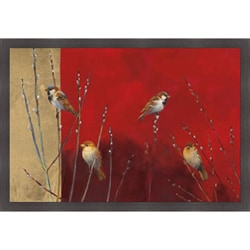 Ellen Granter 'Sparrows in Willow' Framed Print Art