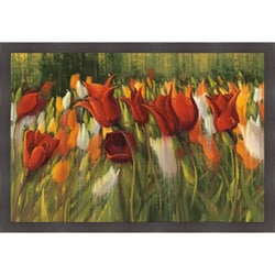 Shirley Novak 'Tipsy Tulips' Framed Print Art