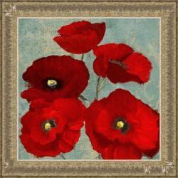 Lanie Loreth 'Kindle's Poppies II' Framed Print Art