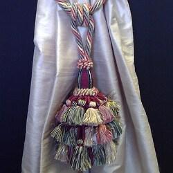 Italian Handmade Drapery Tieback with Tassel