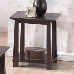 Havana Brown Wood Modern End Table