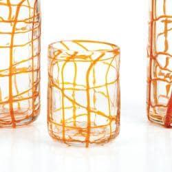 Impulse! Abstract Orange Rocks Glasses (Case of 24)