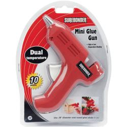 Dual-Temp Red Mini Glue Gun