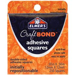 Elmer's Initially Repositionable Adhesive Squares (Pack of 250)