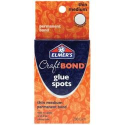 Elmer's Craft Bond Thin Medium Glue Spots (Pack of 200)