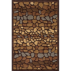 Hand Tufted Pebbles Brown Rug