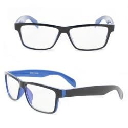 Unisex Black/Blue Rectangle Fashion Sunglasses