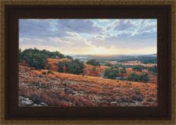 Greg Glowka 'Smithson Valley Sunset' Framed Print