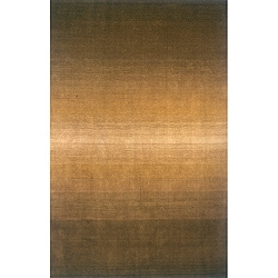 Manhattan Ombre Olive Hand-Loomed Wool Rug (8' x 11')