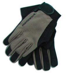 WWG Manswork MicroSuede Large Off Black Stretch Work Glove