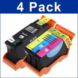 INSTEN Dell 21/ 22/ 23 / 23 V313/ V313W Black/ Color Ink Cartridges (Set of 4)