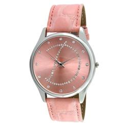 Viva Women's Crystal Initial 'D' Pink Watch