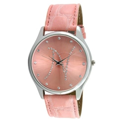 Viva Women's Crystal Initial 'N' Pink Watch