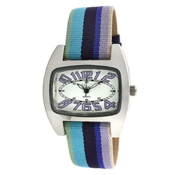 Viva Women's Multi-color Grosgrain Strap Watch