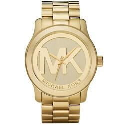 Michael Kors Women's MK5473 Gold-Tone Logo Stainless Steel Watch