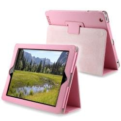INSTEN Premium Light-pink Synthetic-leather Protective Tablet Case Cover for Apple iPad 2