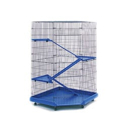 Prevue Pet Products 4-story Blue/ Black Corner Ferret/ Chinchilla Cage