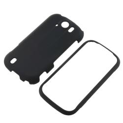 INSTEN Black Snap-on Rubber Coated Phone Case Cover for HTC and T-Mobile myTouch 4G Slide