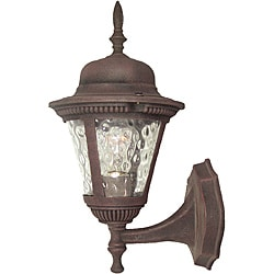 Woodbridge Lighting Basic 1-light Rust Outdoor Wall Light