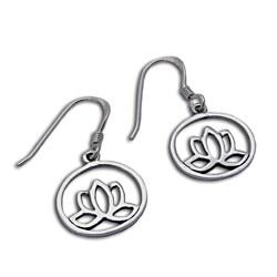 Sterling Silver Enlightenment Lotus Earrings (Thailand)