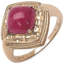 Malaika 4.50ctw 14K Rose Gold Overlay Silver Genuine Ruby Ring