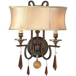 World Imports Turin Collection 2-Light Wall Sconce