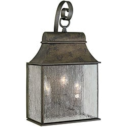 World Imports Revere Collection Outdoor 3-Light Wall Lantern