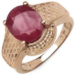 Malaika 3.50ctw 14K Rose Gold Overlay Silver Ruby Ring